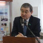 ҚР Парламенті Мәжілісінің депутаты С.Абдрахманов университеттің оқытушы-профессорларымен кездесті