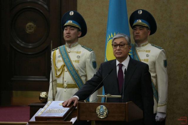 Қ. Тоқаев Ант қабылдап, ҚР президенті лауазымына кірісті