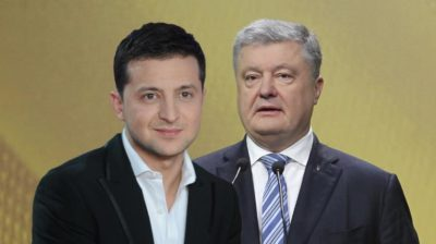 Украина сайлауы: В.Зеленский үш еседей артық дауыспен П. Порошенкодан алда тұр