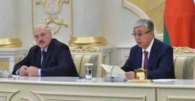 Қазақстан мен Беларусь Президенттері БАҚ өкілдері үшін бірлескен баспасөз мәслихатын өткізді