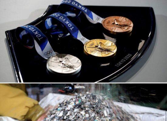 Токио олимпиадасы медальдары тұрмыстық заттардың қалдығынан жасалды